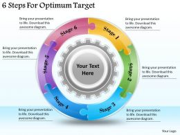 1113 Business Ppt diagram 6 Steps For Optimum Target Powerpoint Template