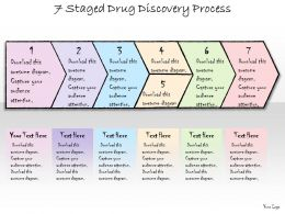 1113 Business Ppt Diagram 7 Staged Drug Discovery Process Powerpoint Template