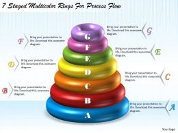 1113 Business Ppt Diagram 7 Staged Multicolor Rings For Process Flow Powerpoint Template