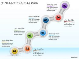 1113 Business Ppt Diagram 7 Staged Zig Zag Path Powerpoint Template