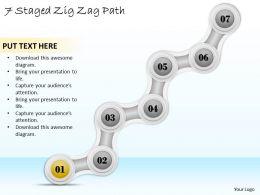 88223275 Style Circular Zig-Zag 7 Piece Powerpoint Presentation Diagram Infographic Slide