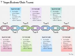 1113 Business Ppt Diagram 7 Stages Business Chain Process Powerpoint Template