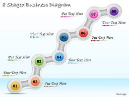 1113 Business Ppt Diagram 8 Staged Business Diagram Powerpoint Template