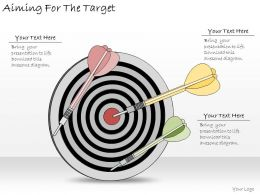 1113 Business Ppt Diagram Aiming For The Target Powerpoint Template