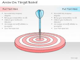 1113 Business Ppt Diagram Arrow On Target Board Powerpoint Template