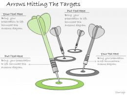 1113_business_ppt_diagram_arrows_hitting_the_targets_powerpoint_template_Slide01