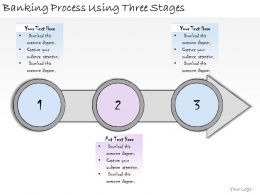 1113 Business Ppt Diagram Banking Process Using Three Stages Powerpoint Template