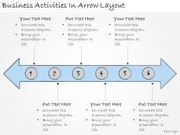 1113 Business Ppt Diagram Business Activities In Arrow Layout Powerpoint Template