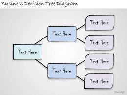 1113 Business Ppt Diagram Business Decision Tree Diagram Powerpoint Template