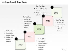 1113 Business Ppt Diagram Business Growth Over Years Powerpoint Template