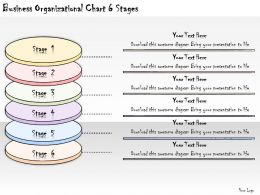 1113 Business Ppt Diagram Business Organizational Chart 6 Stages Powerpoint Template