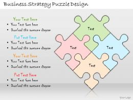 1113 Business Ppt Diagram Business Strategy Puzzle Design Powerpoint Template