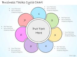 1113 Business Ppt Diagram Business Tasks Cycle Chart Powerpoint Template