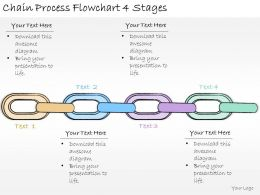 1113 Business Ppt Diagram Chain Process Flowchart 4 Stages Powerpoint Template