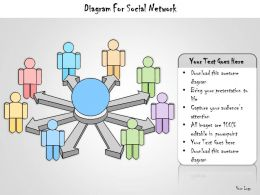 1113 Business Ppt Diagram Diagram For Social Network Powerpoint Template