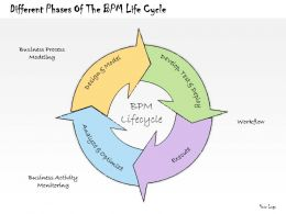 1113 Business Ppt Diagram Different Phases Of The BPM Life Cycle Powerpoint Template