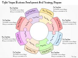 1113 Business Ppt Diagram Eight Stages Business Development And Strategy Diagram Powerpoint Template