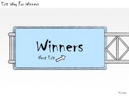 1113_business_ppt_diagram_exit_way_for_winners_powerpoint_template_Slide01