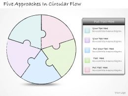 1113 Business Ppt Diagram Five Approaches In Circular Flow Powerpoint Template