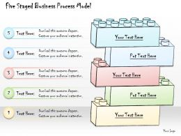 1113 Business Ppt Diagram Five Staged Business Process Model Powerpoint Template