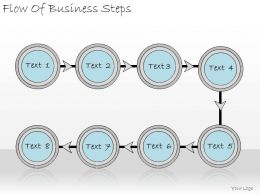 1113 Business Ppt Diagram Flow Of Business Steps Powerpoint Template