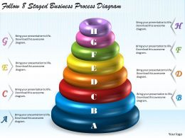 1113 Business Ppt Diagram Follow 8 Staged Business Process Diagram Powerpoint Template