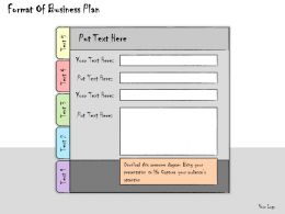 1113 Business Ppt Diagram Format Of Business Plan Powerpoint Template