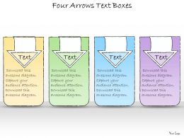 1113 Business Ppt Diagram Four Arrows Text Boxes Powerpoint Template