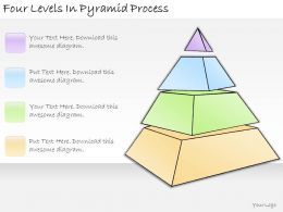 1113 Business Ppt Diagram Four Levels In Pyramid Process Powerpoint Template