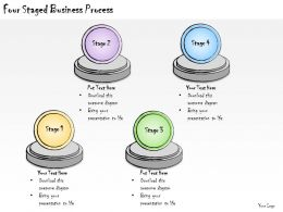 1113 Business Ppt Diagram Four Staged Business Process Powerpoint Template