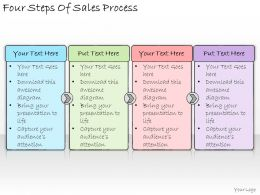 1113 Business Ppt Diagram Four Steps Of Sales Process Powerpoint Template