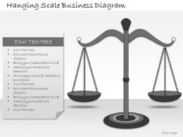 1113 Business Ppt Diagram Hanging Scale Business Diagram Powerpoint Template