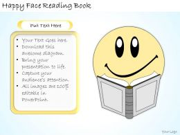 1113 Business Ppt Diagram Happy Face Reading Book Powerpoint Template