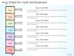 1113 Business Ppt Diagram Key Steps For Goal Achievement Powerpoint Template