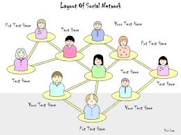 1113 Business Ppt Diagram Layout Of Social Network Powerpoint Template