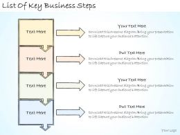 1113 Business Ppt Diagram List Of Key Business Steps Powerpoint Template