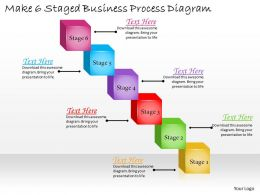 1113 Business Ppt Diagram Make 6 Staged Business Process Diagram Powerpoint Template