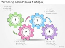 1113 Business Ppt Diagram Marketing Gears Process 4 Stages Powerpoint Template