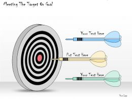 1113 Business Ppt Diagram Meeting The Target Or Goal Powerpoint Template