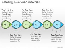 1113 Business Ppt Diagram Monthly Business Action Plan Powerpoint Template