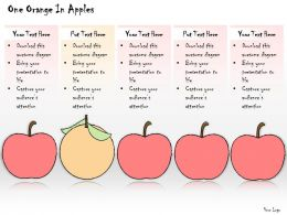 1113 Business Ppt Diagram One Orange In Apples Powerpoint Template