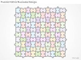 1113 Business Ppt Diagram Puzzle Matrix Business Design Powerpoint Template