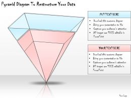 1113 Business Ppt Diagram Pyramid Diagram To Restructure Your Data Powerpoint Template