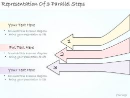 1113 Business Ppt Diagram Representation Of 3 Parallel Steps Powerpoint Template