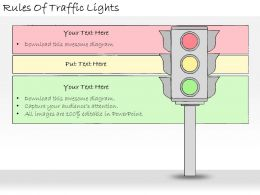 1113 Business Ppt Diagram Rules Of Traffic Lights Powerpoint Template