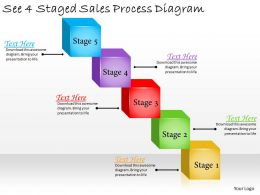1113 Business Ppt Diagram See 4 Staged Sales Process Diagram Powerpoint Template