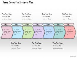 1113 Business Ppt Diagram Seven Steps For Business Plan Powerpoint Template