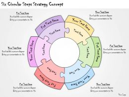 1113 Business Ppt Diagram Six Circular Steps Strategy Concept Powerpoint Template