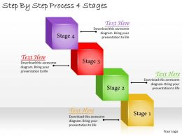 1113 Business Ppt Diagram Step By Step Process 4 Stages Powerpoint Template