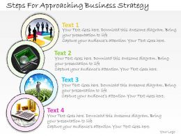 1113 Business Ppt Diagram Steps For Approaching Business Strategy Powerpoint Template